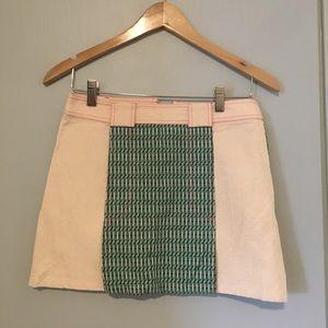 Custo mini jacquard skirt